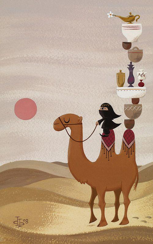 ✯ Desert Traveler .. Drake Brodahl Illustration✯