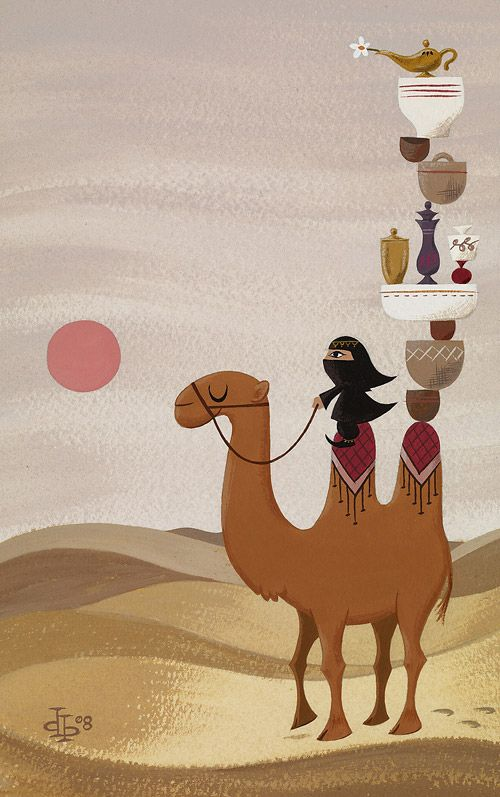 ✯ Desert Traveler .. Drake Brodahl Illustration✯ (Viens avec nous faire la Visite interactive de l'Arabie Saoudie avec le blog du cyber tour du monde de oumie https://cybertourdumonde.wordpress.com)