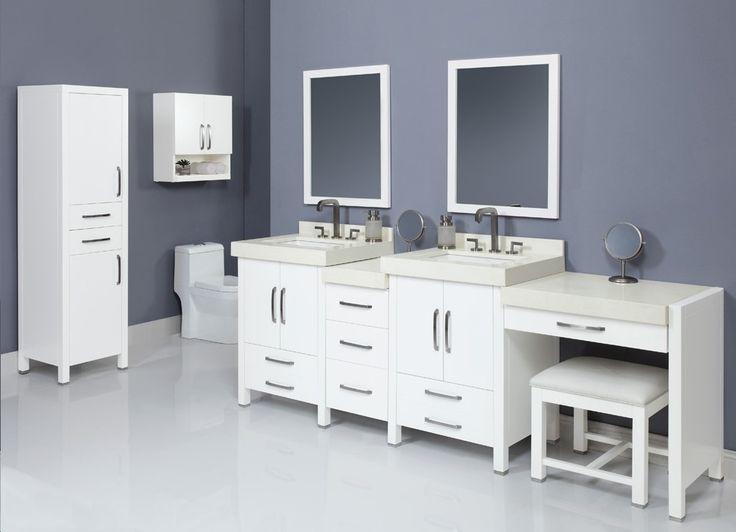 decolav cameron vanity set 2 extra large white vanity bathroom storage blue and