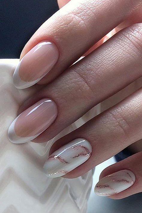 Bestes Nagelkunstrosa und -WEISS – Nails