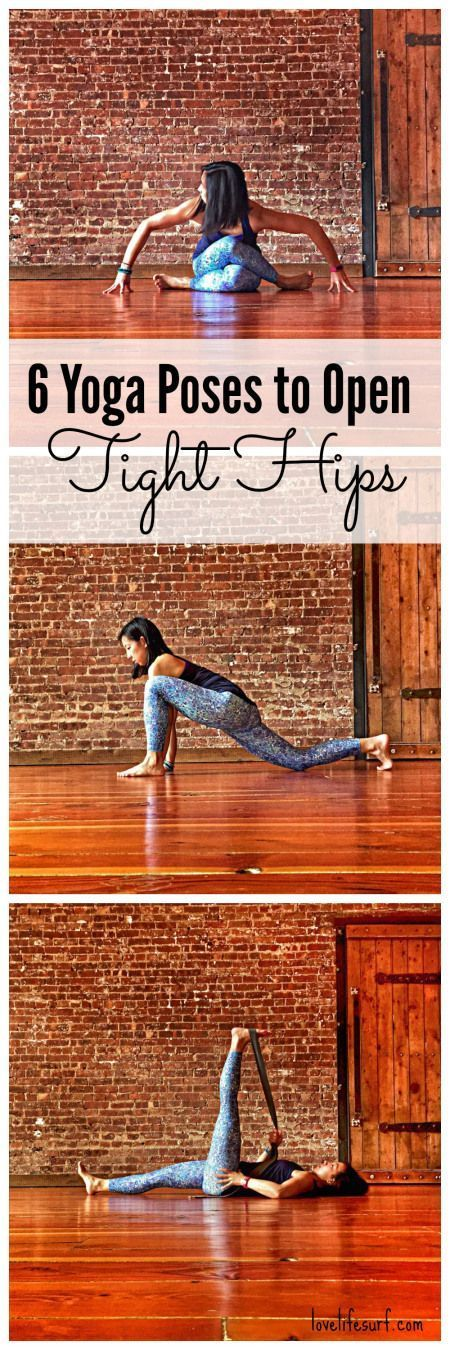 Are you a runner? Or maybe you sit all day at work? These six yoga poses will gently open the hips and release tension in the low back and legs. These yoga hip openers might be your new favorite thing! #HipFlexorsStretches
