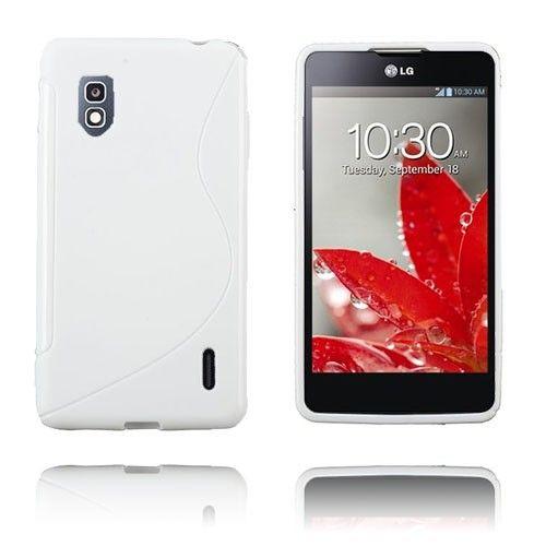 S-Line (Valkoinen) LG Optimus G E975 Suojakuori