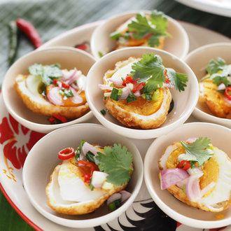 タイ風揚げ卵の前菜