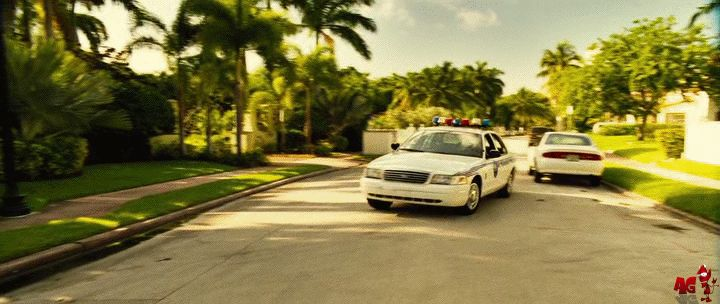 Kate Nauta - Lola in movie Transporter 2 break police car GIF