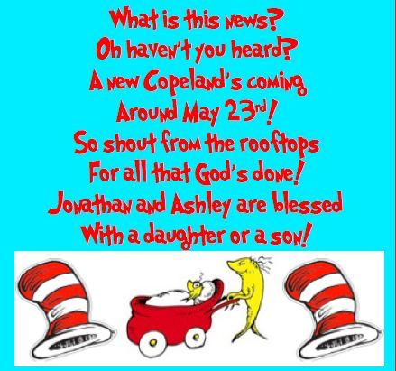 Dr. Seuss pregnancy announcement poem!