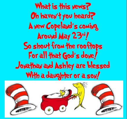 Dr. Seuss pregnancy announcement poem!