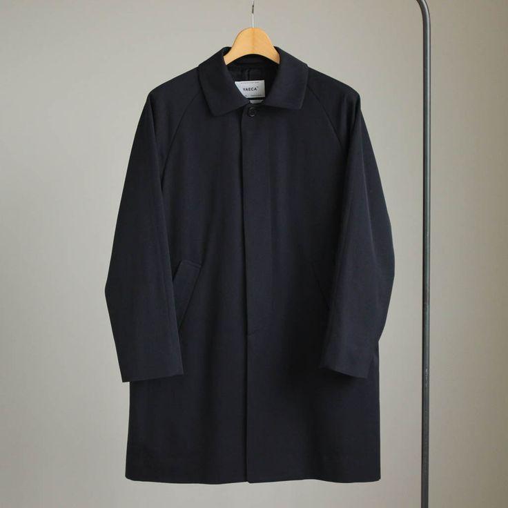 YAECA - Soutien Collar Coat - short #navy 「着楽(チャクラ/ciacura)」 三重県四日市市で洋服と器を販売