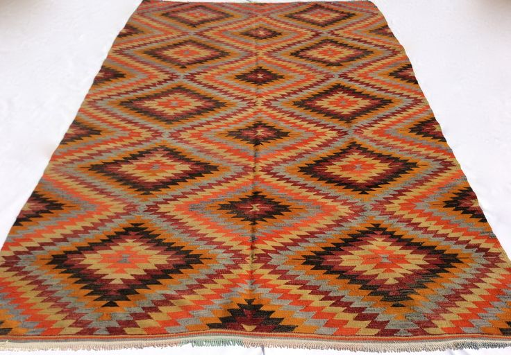 Turkish Kilim rug, 9 x 6 feet