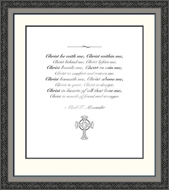 The Breastplate of St. Patrick Christian Prayer Print