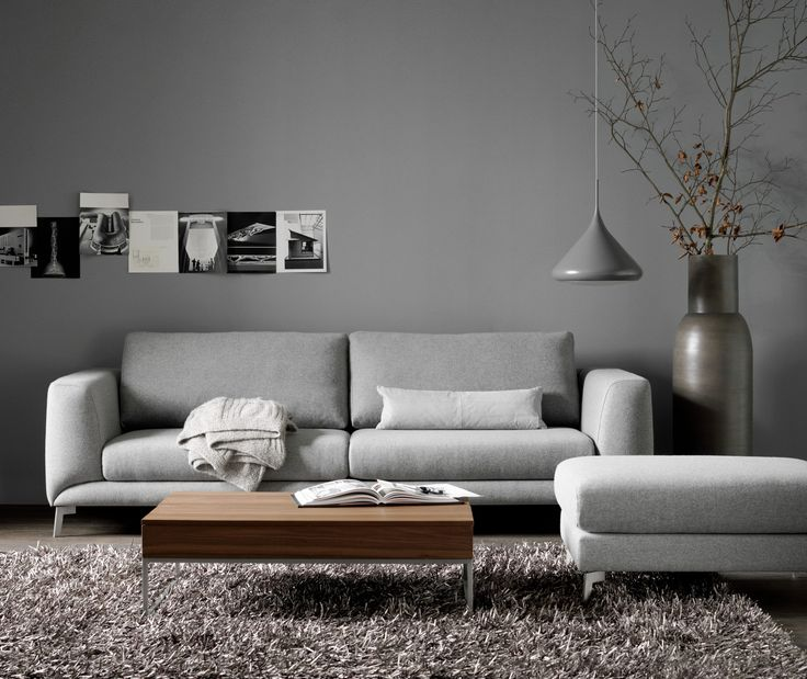 Fargo Sofa––Chiva Coffe Table––Drop Pendant––Cato Rug. *All sofas are available in different materials and configurations. http://www.boconcept.com/en-nz/