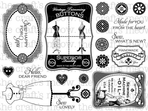 "stamp set: Sew Lovely - found on ""the craft's meow"" site. like this!"