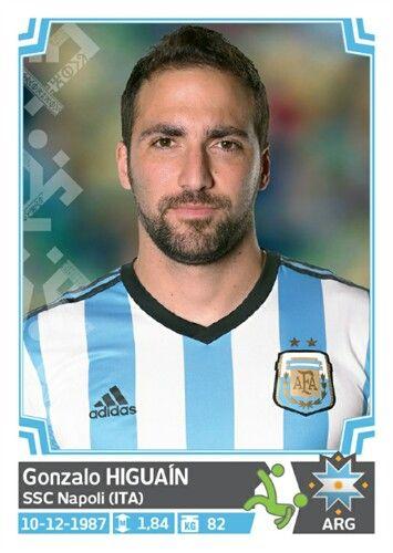 135 Gonzalo Higuaín - Argentina - Copa America Chile 2015 - PANINI