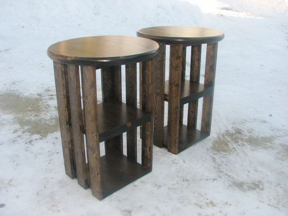 Modern Rustic Classroom ~ Side tables rustic two night stands country storage