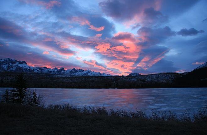 Sunrise over Talbot Lake // by John L'Hirondelle, Jasper, AB