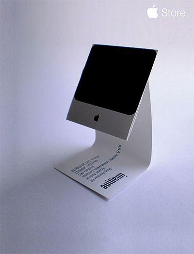 Anlehnung an die Klapp-Flipchart-Ständer; Apple Imac Business Card by Sushil Kumar
