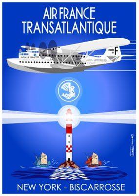 """Il y a 70 ans, le Latécoère 521 """"Lieutenant de Vaisseau PARIS"""" traversait l'Atlantique, il était le premier """"hydroliner"""" à accomplir cet exploit entre les USA et la France."""
