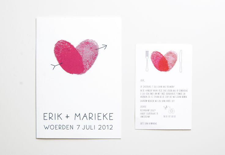 Trouwkaart ontwerp #kaart #trouwkaart #ontwerp #uitnodigingen #trouwen #bruiloft