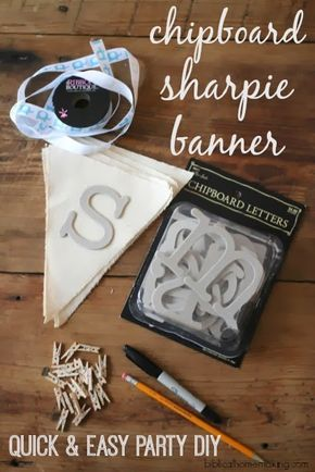 quick and easy party DIY- reusable sharpie pennant banner