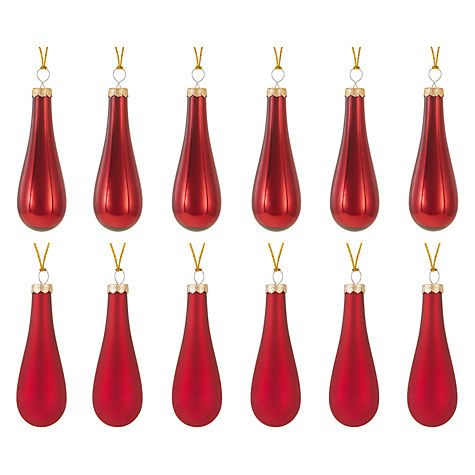 Buy John Lewis Ruskin House Pearlised Glass Drops, Box of 12 Online at johnlewis.com