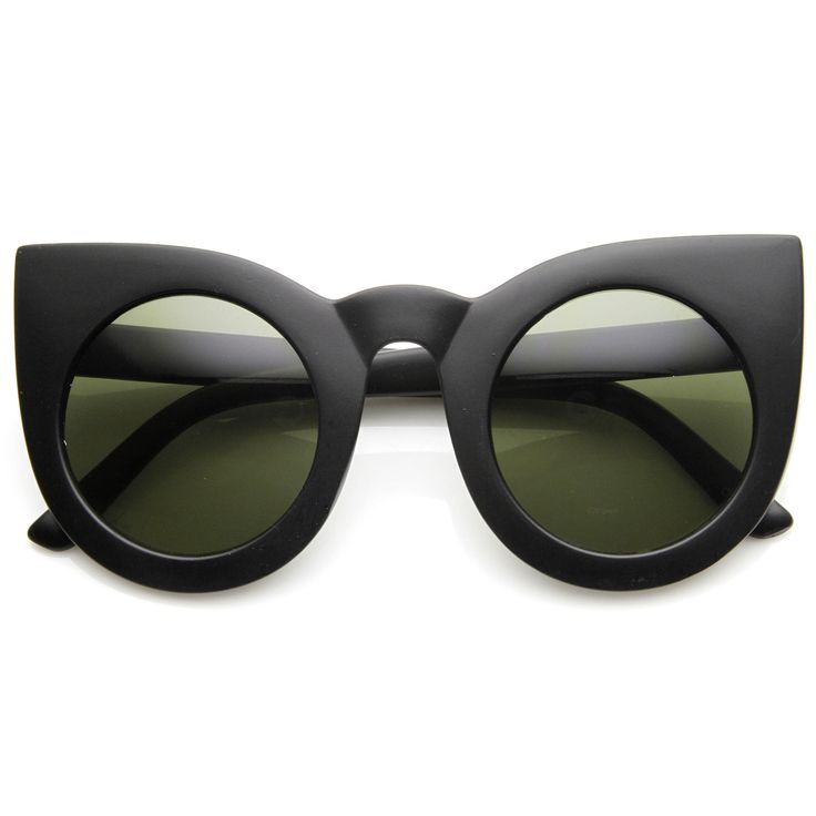 Designer Inspired Large Round Circle Pointed Cat Eye Sunglasses 9180 from zeroUV