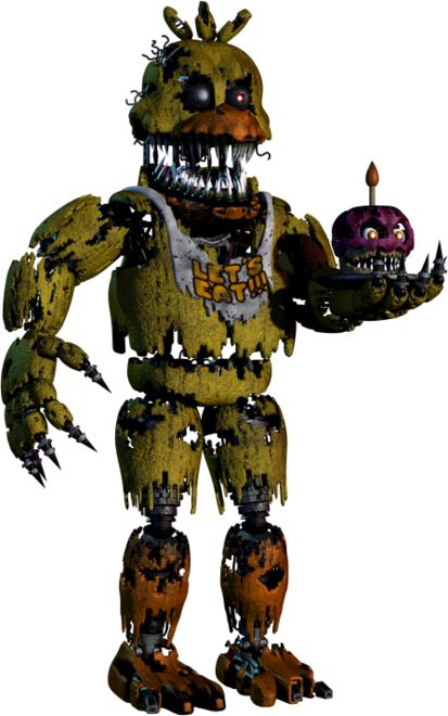 Full body photo of Nightmare Chica from Five Nights at Freddy's 4. #FNAF4