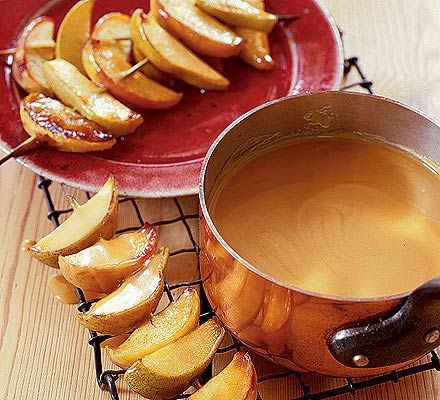 Warm #butterscotch #apple dippers - what a delicious, fun idea.