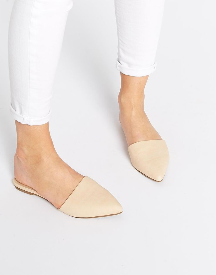Image 1 of ASOS LABORATORY Pointed Mule Ballets