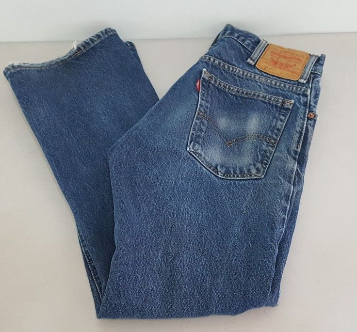 Levis 517 Distressed Boot Cut Denim Blue Jeans Levi Strauss Mens Size 33x30   Clothing, Shoes & Accessories, Men's Clothing, Jeans   eBay!
