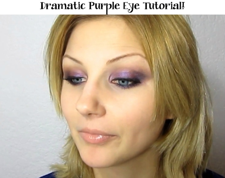 An easy how to for achieving a dramatic purple eye look.