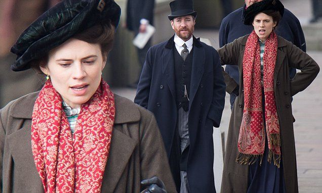 PICTURED: Hayley Atwell and Matthew MacFadyen shoot Howards End scenes