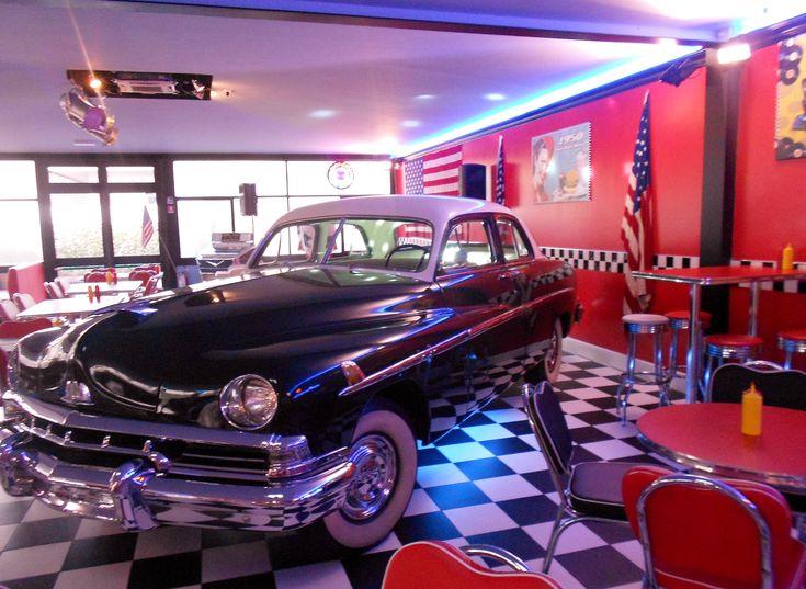 1950s american diner car 50s diner pinterest cars florence and diners. Black Bedroom Furniture Sets. Home Design Ideas