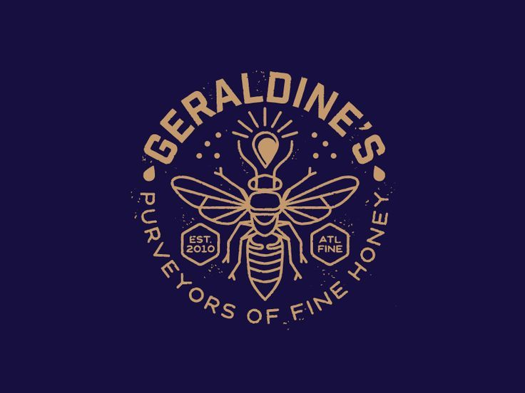 #Logo #Branding Geraldine and the Honey Bee by Brian Steely