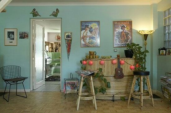 1950s interior decor the kitsch tiki bar home sweet for Case anni 70 ristrutturate