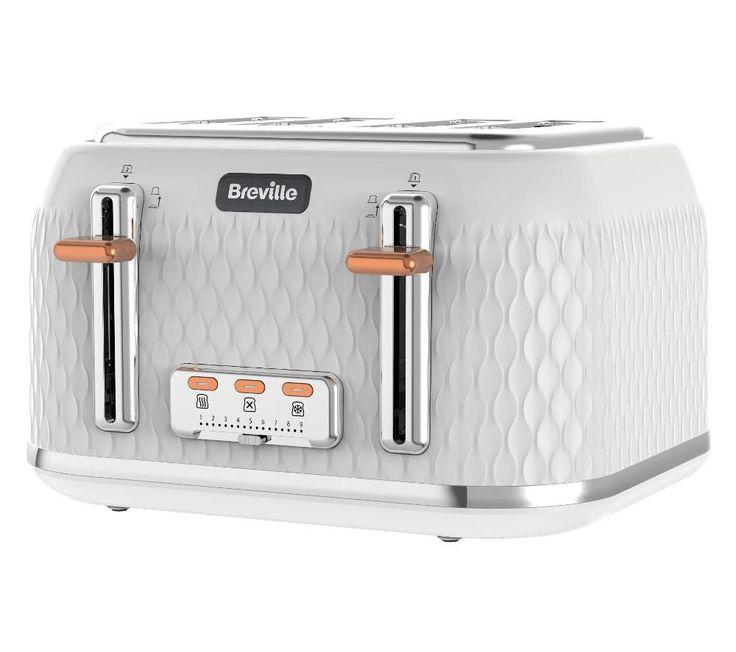 BREVILLE Curve VTT787 4-Slice Toaster - White