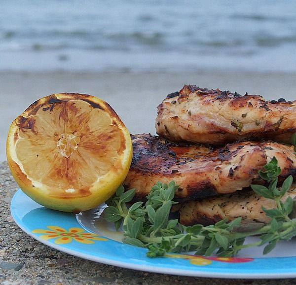 Grilled Chicken with Lemon and Oregano- another great recipe from recipegirl.com...