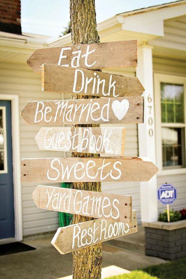 Rustic Yellow Summer Wedding signs, summer wedding decor, wood wedding signs www.dreamyweddingideas.com