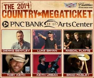 2014 Country Megaticket - PNC Bank Arts Center - Holmdel, NJ  Luke Bryan, Dierks Bentley, Chris Young, Lee Brice, Rascal Flatts, Toby Keith, Keith Urban, Brad Paisley