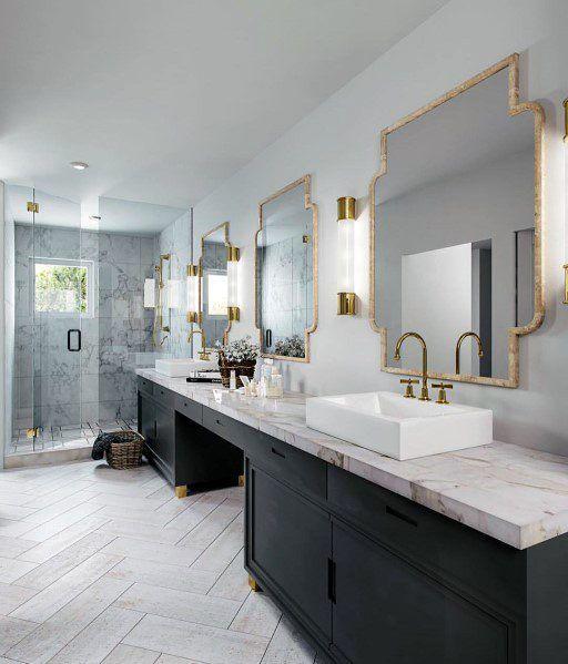 Top 60 Best Master Bathroom Ideas Home Interior Designs White Master Bathroom Modern Master Bathroom Design Black Vanity Bathroom