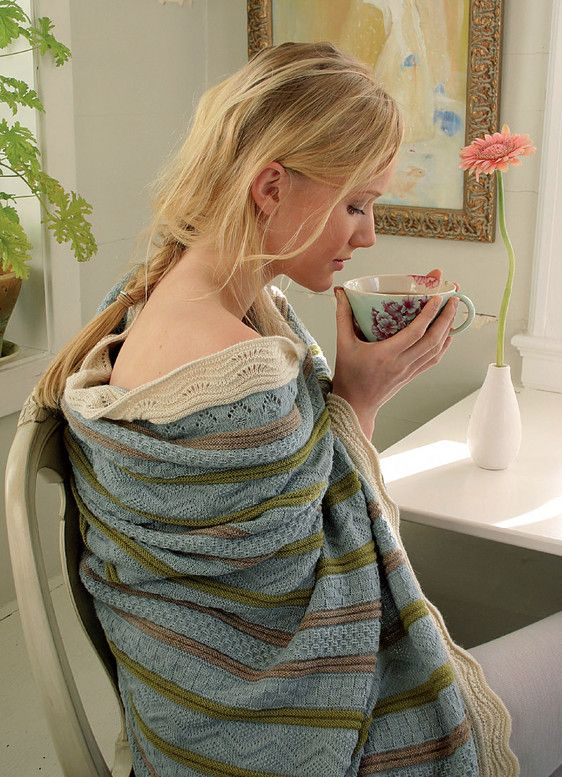 from OLEANA home Collection,Trow knitted in 100% Alpaca,  Design Solveig Hisdal,  Made in Norway