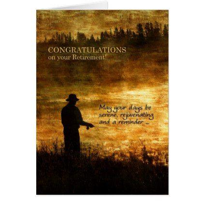 #fishing - #Retirement Congratulations Fisherman Fishing Card