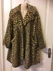 Ladies Topshop Fur Coat Size 10