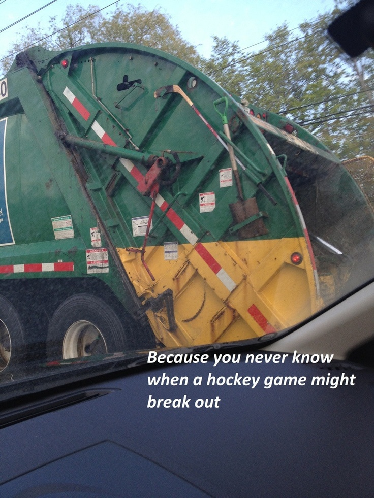 Canadian garbage truck
