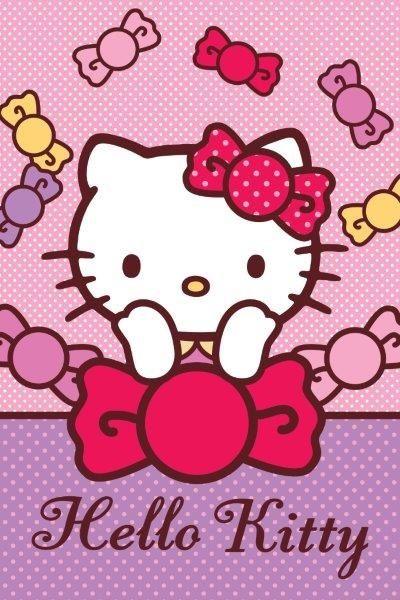 Hello Kity różowy ręcznik plażowy dla dzieci