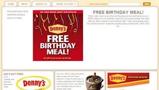 Free meal on your birthday at Denny's! Yum!