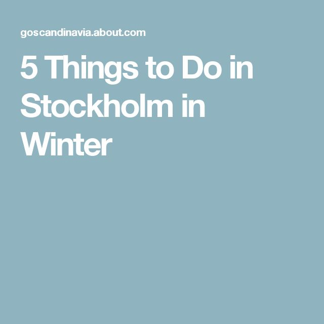 5 Things to Do in Stockholm in Winter