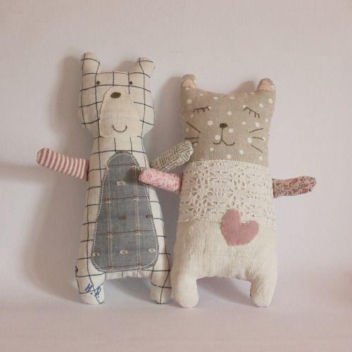 tessituras: Gatinho e cachorrinho de tecido