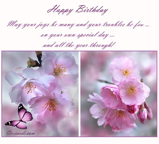 Fresh Flowers To Wish Happy Bday Free Flowers eCards Greeting – E Greeting Birthday Card