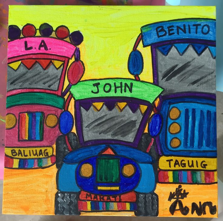 Dec 2015 - Jeepney Trio. A Christmas art piece for my friend LA and her lovely family in the Philippines.
