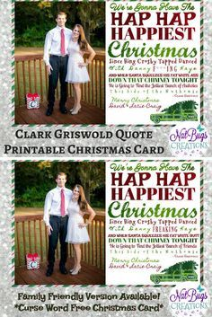 National Lampoon's Christmas Vacation is one of our family's FAVORITE Christmas movies! It's a little inappropriate, sure, but who can't relate to the stress of Christmas!! So funny! #commissionlink #Christmas #Griswold #movies #christmascard #printable