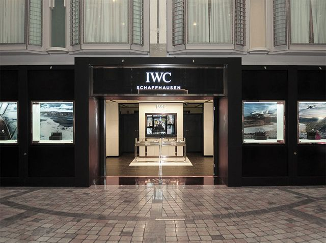 The 60 square-metre store offers passengers watches from all six IWC families © IWC